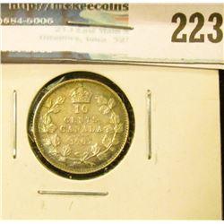 1907 Canada Silver Dime. EF.