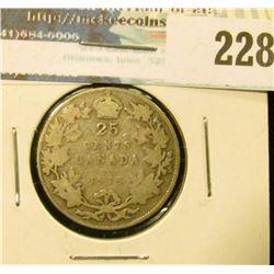 1915 Canada Silver Quarter. Good.