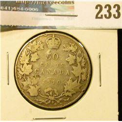 1910 Canada Silver Half-Dollar. Good.