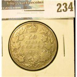 1912 Canada Silver Half-Dollar. Good.