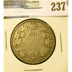1916 Canada Silver Half-Dollar. Good +.