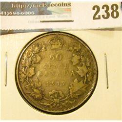 1917 Canada Silver Half-Dollar. Good +.
