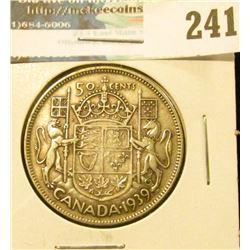 1939 Canada Silver Half-Dollar. Fine.