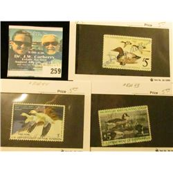 RW42-44 1975-77 Federal Migratory Bird Hunting and Conservation Stamp, signed, no gum.