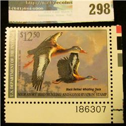 RW57 1990 Federal Migratory Bird Hunting and Conservation Stamp, plate number single, not signed, NH