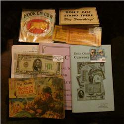 "Colorful, embossed ""Hook'Em Cow Let's Go, Let's Go Now So. St. Paul Club Hook'em Cow 1916"" box label"