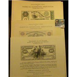 A Trio of Bureau of Engraving and Printing, Washington, D.C. Souvenir Cards printed from a original