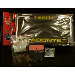 """Terry Labonte"" Metal license plate frame (new in package); package of three ""IB"" $1, $5, & $20 Poke"
