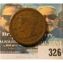 1850 U.S. Large Cent, Fine.