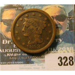 1853 U.S. Large Cent, Very Fine.