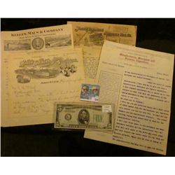 """1907 Letter on letter head """"Hisgen Brothers Proprietors of 4 Brothers Axle Grease Co. Brothers Indep"""