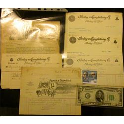 """(3) 1894-1895 era Invoice and letters on letter head from """"Hench & Dromgold Manufacturers of Spring-"""
