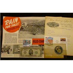 """1896 letter on letter head """"Milsom, Rendering & Fertilizer Co. Manufacturers of High grade Fertilize"""