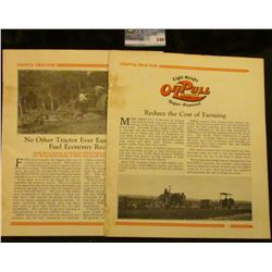 """1929 Advertising booklet which 'Doc' valued at $150 """"Oilpull Tractor Light-Weight OilPull Tractor La"""