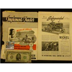 """May 25, 1940 """"Implement & Tractor"""" Magazine, which 'Doc' valued as is at $50 (marginal damage to spi"""