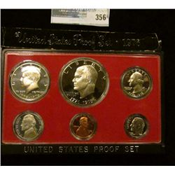 1976 S U.S. Cameo Frosted Proof Set in original box as issued.
