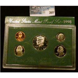 1998 S U.S. Cameo Frosted Proof Set in original box as issued.