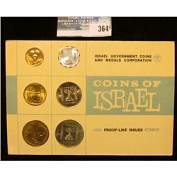 "1965 Coins of Israel Proof-like Issues by ""Israel Government Coins and Medals Corporation"". Six-piec"