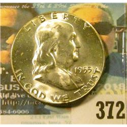 1955 P Benjamin Franklin Half Dollar, Superb BU.