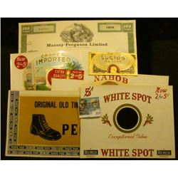 (5) different Mint condition colorful Cigar Box labels and a 1979 Stock Certificate for 100 Shares o