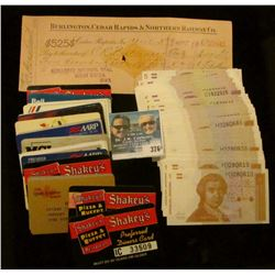 "(22) Old Credit Card Style cards including ""Shakey's Pizza & Buffet"", (many were issued to Dr. Carbe"