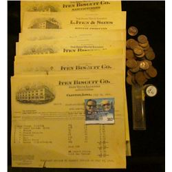 "Over One dozen invoices dated 1912-1919 from ""The Snow White Bakery L. Iten Biscuit Co. Snow White B"