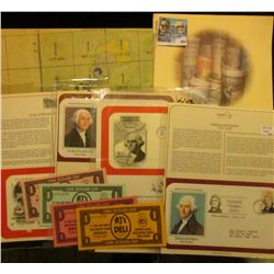 Mount Rushmore, (2) different George Washington, & a Thomas Jefferson First Day of Issue Covers with