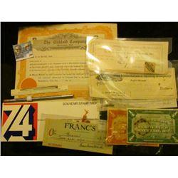 """Repass Automobile Company Waterloo, Iowa"" advertising ruler; ""Amtrak"" advertising pencil; Souvenir"