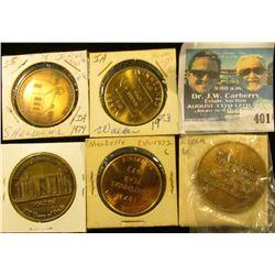 1882-1982 Neola, Ia. Centennial Medal, 39mm, Brass, BU; 1904-2004 Yetter, Ia. Centennial Medal, 39mm