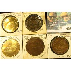 1870-1970 Hawkeye, Ia. Centennial Medal, Brass, BU; 1869-1969 Emerson, Ia. Centennial Medal, antique