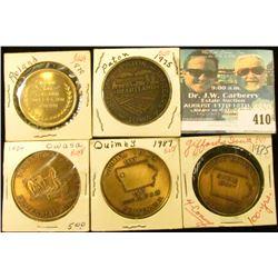1884-1984 Owasa, Iowa Centennial Medal, brass, 39mm, BU; 1887-1987 Quimby, Iowa Centennial Medal, br