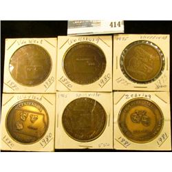 1880-1980 Wayland, Iowa Centennial Medal, brass, 39mm, BU; 1860-1985 Spillville, Iowa Quasquicentenn