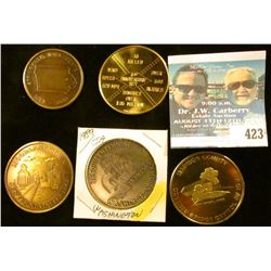 1881-1981 Springville, Iowa Centennial Brass Medal, BU; 1883-1983 Moorland Iowa Centennial Brass Med
