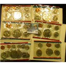 1974, 75, 76, 77, 78, & 79 U.S. Mint Sets. All original as issued. (total face value $19.10)