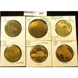 1999 Emmetsburg, Iowa Irish Dollar, Brass, BU, 39mm; 1891-1971 Fort Dodge, Iowa Brass Medal, BU, 39m
