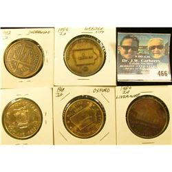 (5) Different Iowa Centennial Medals, includes: Underwood, Webster City, Livermore, Oxford, & Clare,