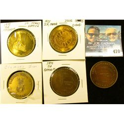 (5) Different Iowa Centennial Medals, includes: Clemons Grove, Deep River, Adair, Arcadia, & Barnum,