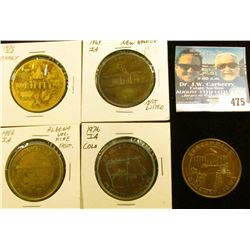 (5) Different Iowa Centennial Medals, includes: Rippey, New Hampton, Odebolt, Colo, & Algona, Iowa.