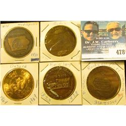 (5) Different Iowa Centennial Medals, includes: Modale, Mediapolis, Rockwell City Third Issue, Rowle