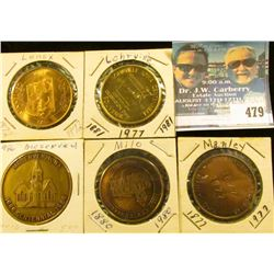 (5) Different Iowa Centennial Medals, includes: Manley, Milo, Meservey, Lenox, & Lohrville, Iowa.