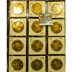 1971 Brass, 72 Brass, 72 Nickel, 73, 74, 75, 76, 77, 78, 79, 80, & 81 Annual Tulip Time Festival Med