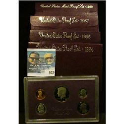 1984, 1986, 1987, AND 1987 PROOF SETS