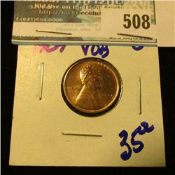 BRIGHT RED 1909-VDB WHEAT CENT