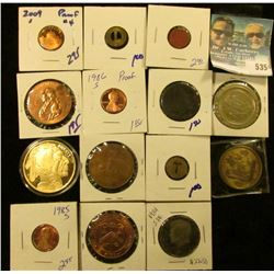 HODGEPODGE COIN LOT INCLUDES COCA COLA TOKEN, TRANSIT TOKENS, RED POINT OPA RATION TOKEN, REPLICA GO