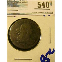 1804 DRAPED BUST HALF CENT.  THE REVERSE IS ROTATED TO THE RIGHT