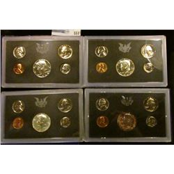 1968 S, 1969 S, 1970 S, AND 1971 S PROOF SETS.  THE HALF DOLLARS IN THE 1968 S, 1969 S, AND 1970 S A