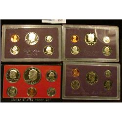 1977 S, 1986 S, 1987 S, AND 1989 S PROOF SETS IN ORIGINAL GOVERNMENT PACKAGING