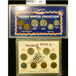 DOUBLE MINTED COIN COLLECTION.  THID SET HAS A 1909 ININAN HEAD CENT, 1909 WHEAT CENT, 1938 BUFFALO