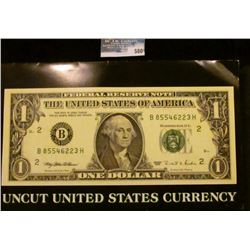 UNCUT SHEET OF FOUR 1995 ONE DOLLAR NOTES