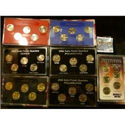 2002 DENVER MINT, 2006 SATIN FINISH, 2006, 2005 PHILADELPHIA, 2000 GOLD, 2005 SATIN FINISH, AND 2008